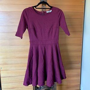 Cranberry ModCloth skater dress